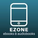 "white outline of a smartphone captioned ""EZONE ebooks & audiobooks"""