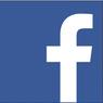 facebook logo: a white f in a blue square
