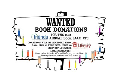 Book Donations for the Annual Friends Book Sale