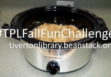 fall fun challlenge beanstack crockpot applesauce