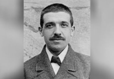 charles ponzi mugshot in front of brick wall