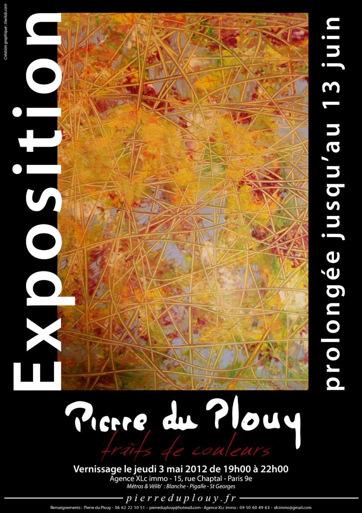 Affiche - Exposition - Peinture -Traits-de-couleurs