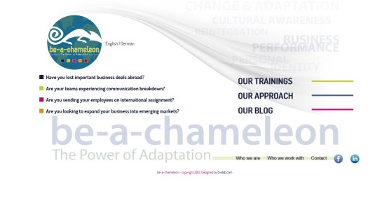 Be a Chameleon - Site corporate