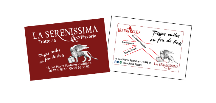 Carte de visite – Restaurant -La Serenissima