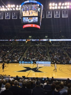 Great seats at Xavier game.
