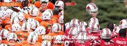 Photo credit: Miami Hurricanes Football Official Facebook page and Louisville Cardinals Football Official Facebook page
