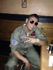 Hernandez as Top Gun