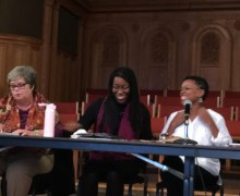 TIya Miles participates in a panel discussion