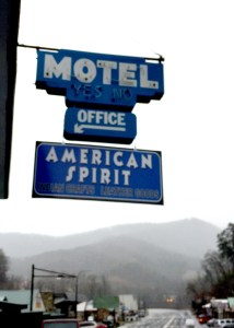 American Spirit Motel sign