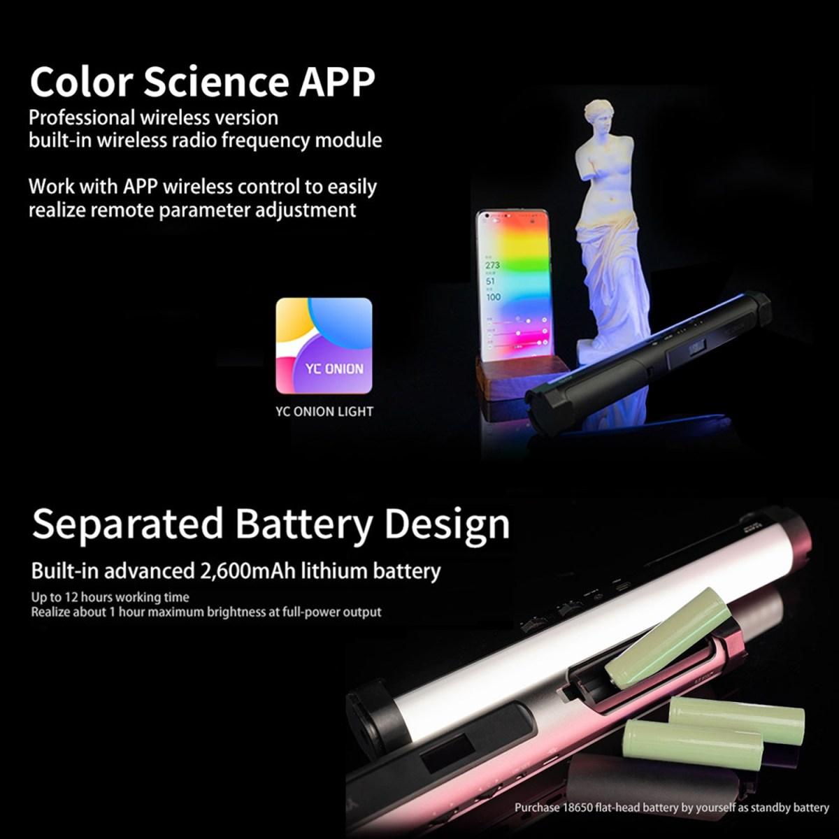 YC Onion Energy Tube 8W Handheld RGB LED Light Tube-india-tiyana