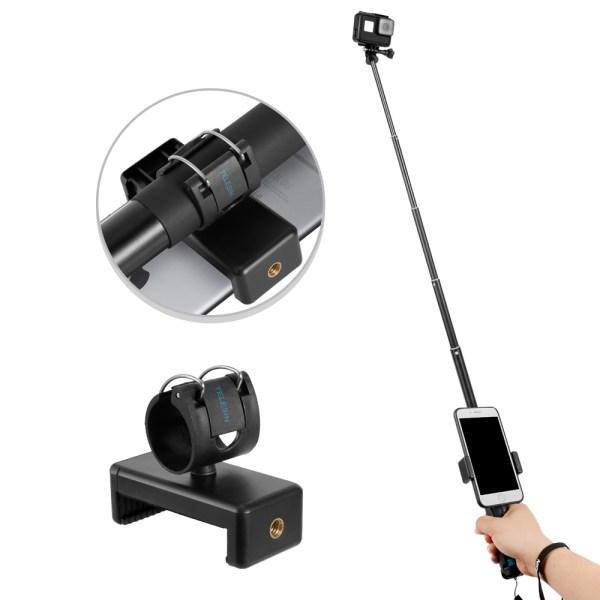TELESIN GP-MNP-090-S Extendable Aluminum Alloy Selfie Stick With Tripod And Phone Clip india tiyana 5