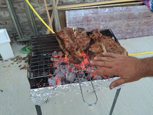 the guests make us a BBQ