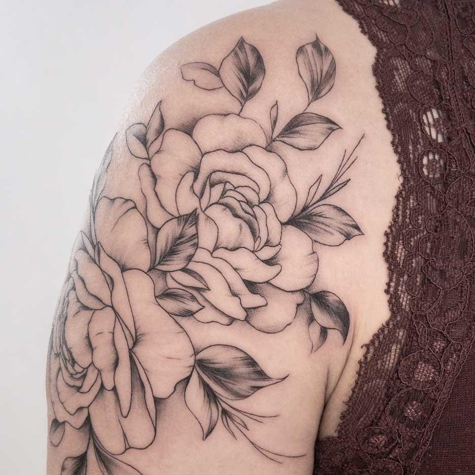 pivoine-tatouage