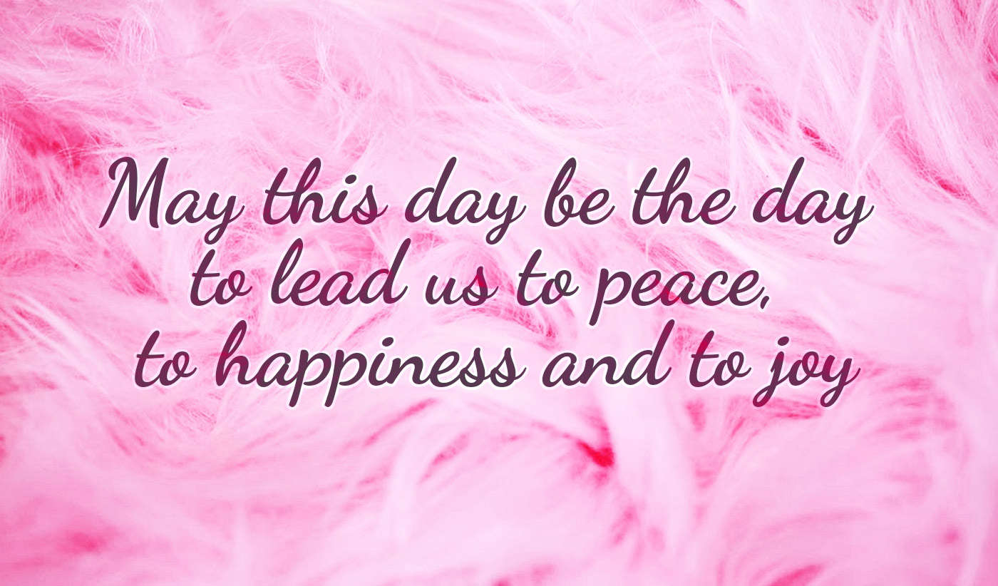 daily inspirational quote image: a pink faux-fur background