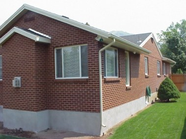 Kline addition showing how we matched existing home with new brick
