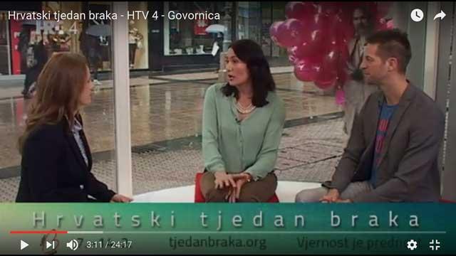 Govornica – HTV 4 – obilježavanje Tjedna braka 2016.