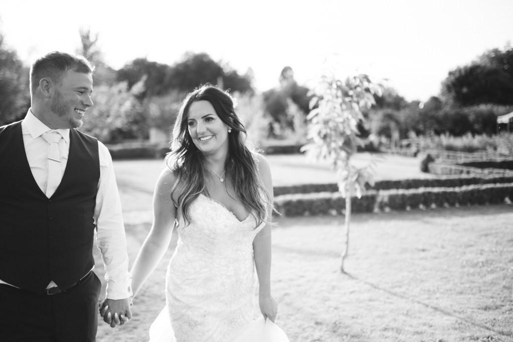 Bride and groom at Secret Garden portraits