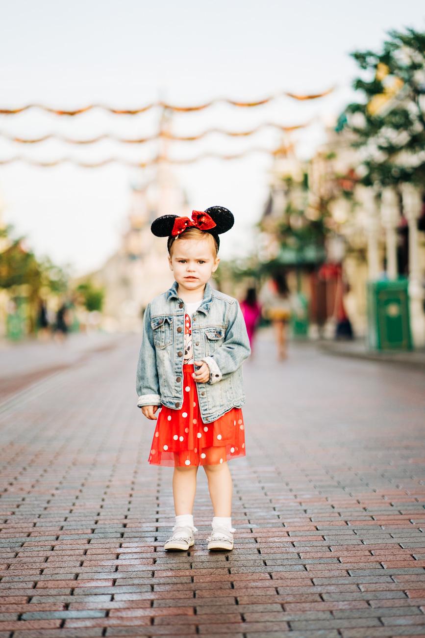 Grumpy daughter at Disneyland Paris