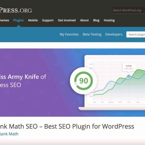 WordPress SEO Plugin: RankMath.
