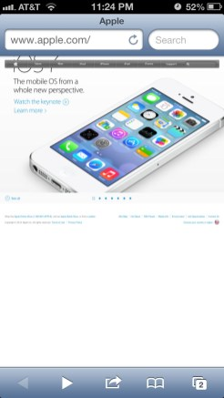 Apple Website Responsive: iPhone screenshot 4.