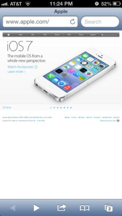Apple Website Responsive: iPhone screenshot 5.