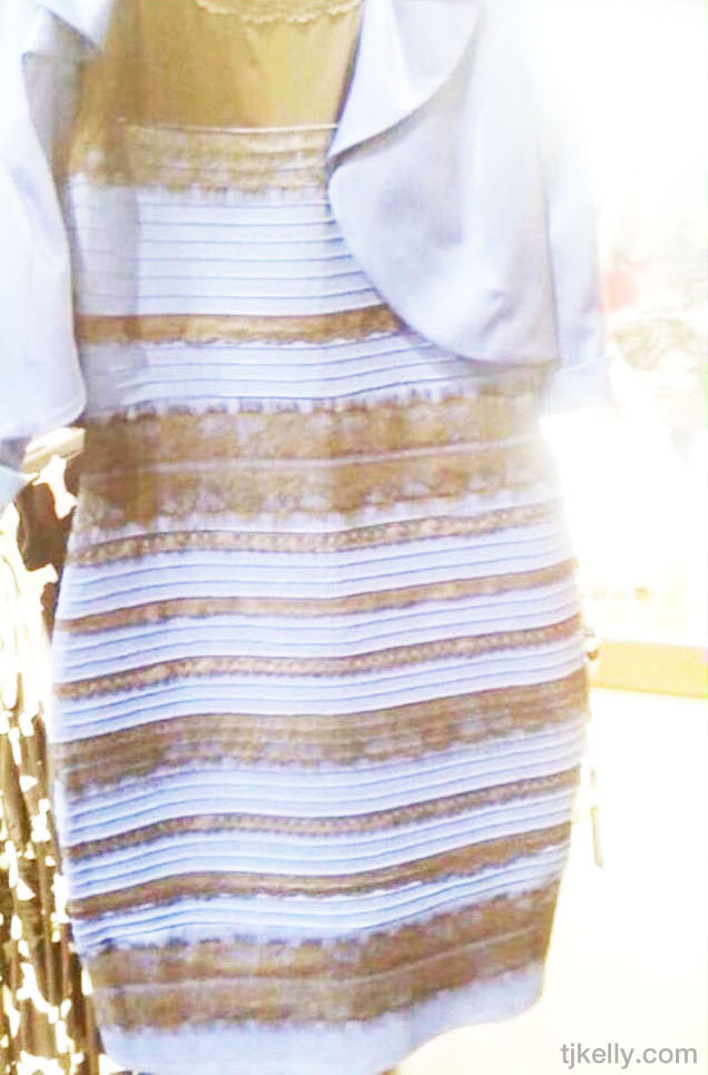 The Dress, white & gold isolated #whiteandgold.