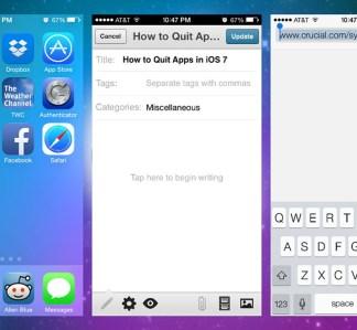 iOS 7 - Quit apps.