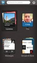 LinkedIn's Terrible Mobile App 1: App menu.