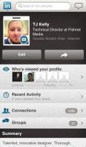 LinkedIn's Terrible Mobile App 4: Profile screen.