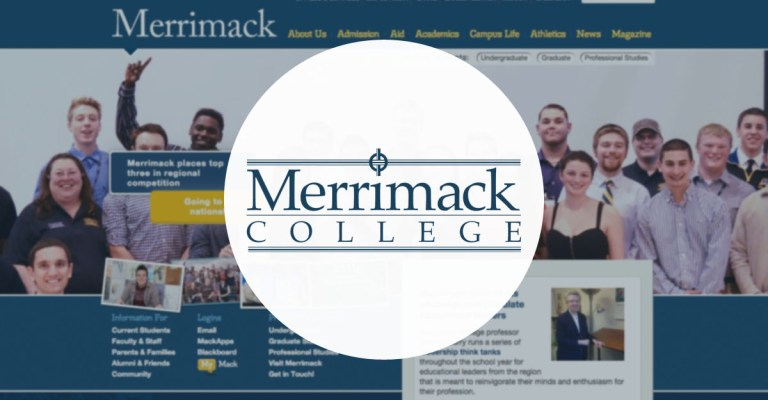 North Andover Web Design portfolio: Merrimack College, by TJ Kelly.