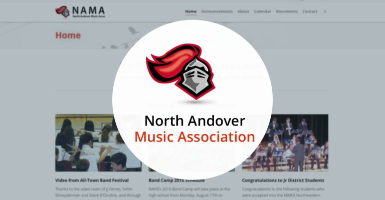 North Andover Web Design portfolio: NA Music Association, by TJ Kelly.