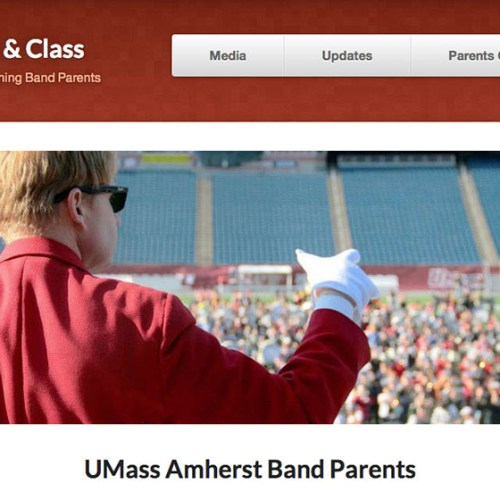 Portfolio item: UMass Band Parents.