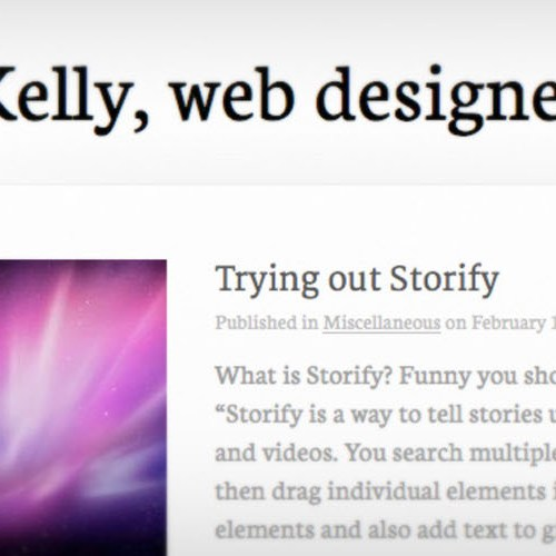 A screenshot of tjkelly.com, June 28, 2011.