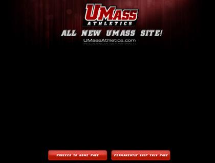 UMass Athletics Website homepage