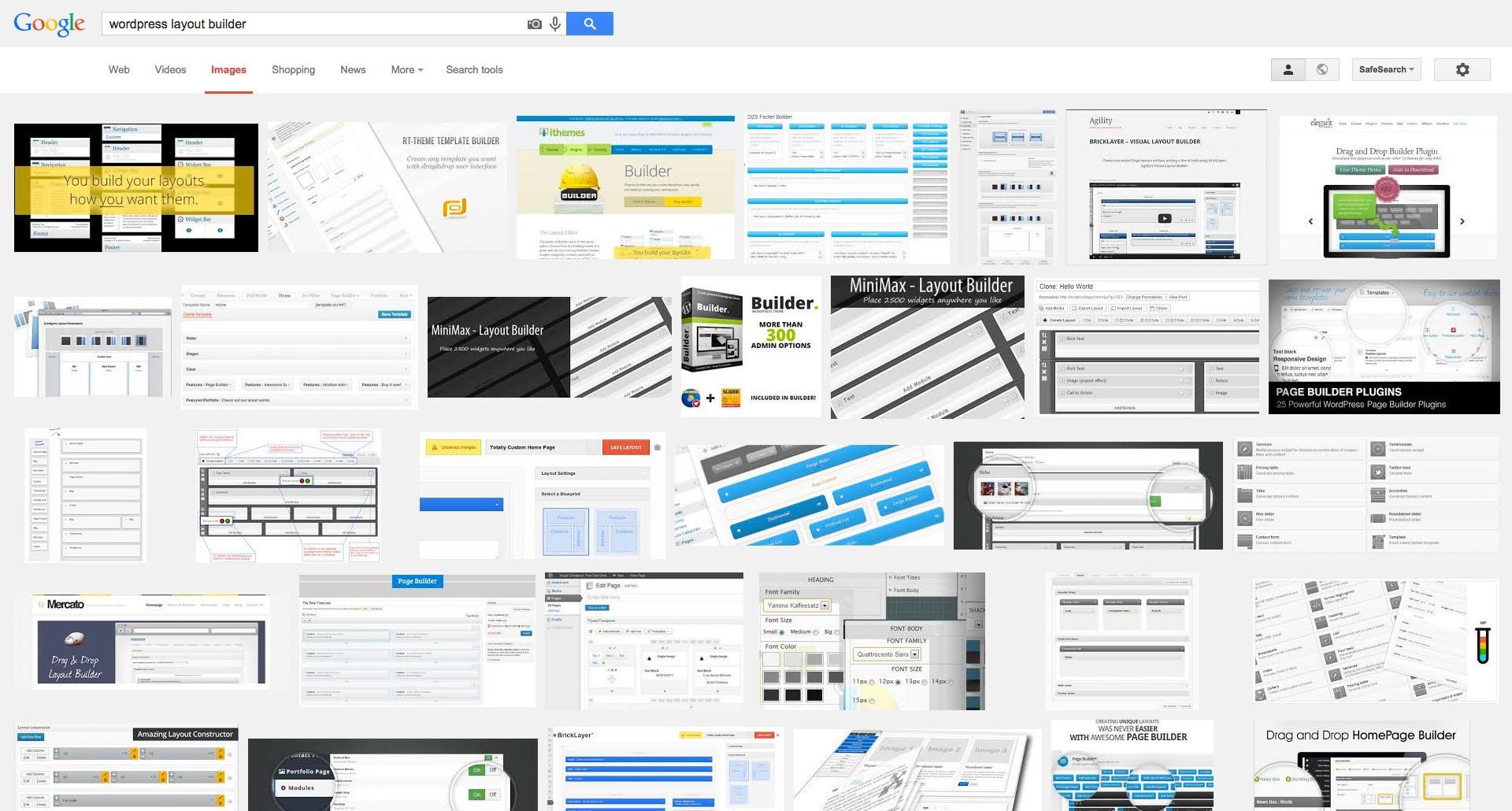 WordPress layout builders.