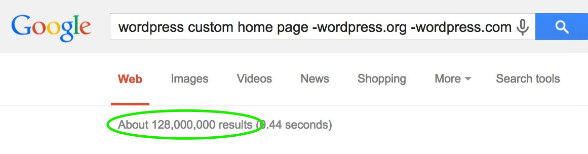 WordPress Tutorial: Front Page - Related Google searches.