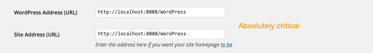 WordPress Tutorial: General Settings - Site addresses.
