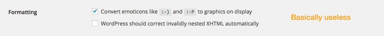 WordPress Tutorial: Writing Settings - Formatting.