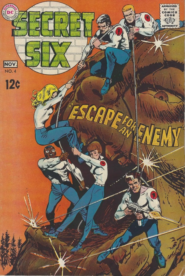 "A mess of a cover for ""Secret Six"" #4 (Nov. 1968). Art by Jack Sparling."