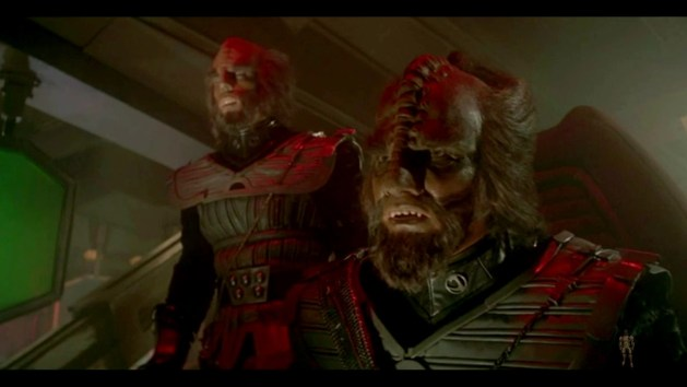 "Mark Lenard, left, as the Klingon commander in ""Star Trek: The Motion Picture."""