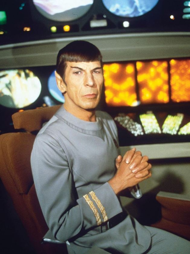 Leonard Nimoy sports an updated and much improved look for Mr. Spock.
