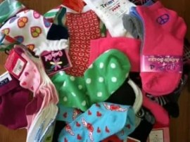 Unfortunately there are children in dire need of socks, so here are some happy socks for them!