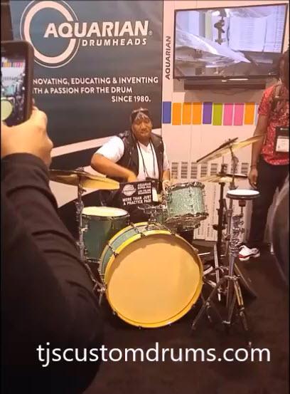 Eric Moore drum solo on TJS Custom Drums