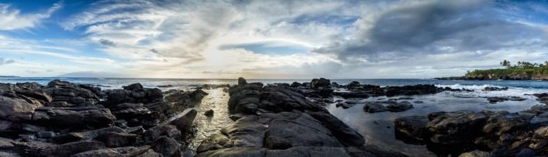Sunset Panorama at the Namalu Bay