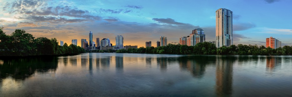 Austin Skyline Panorama at Dusk
