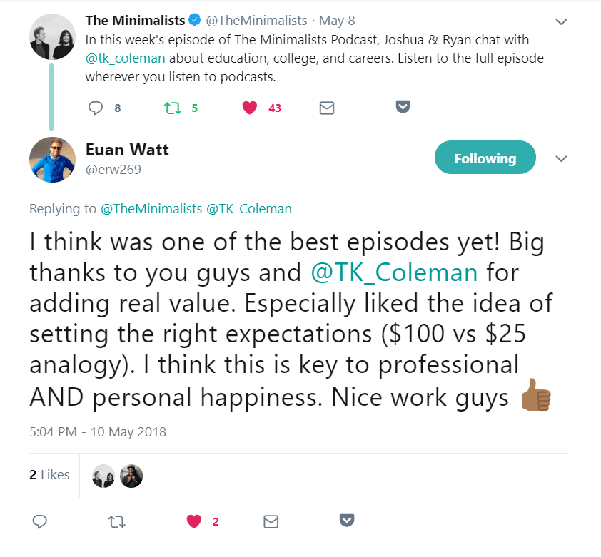 My Recent Appearance on The Minimalist Podcast - T K  Coleman