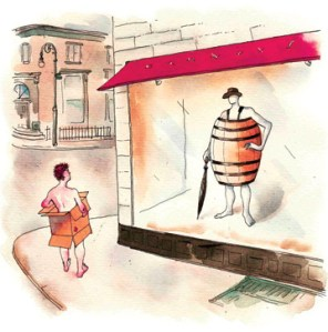 Losing our shirt? The problem is that our banks are also losing theirs. Illustration by Barry Blitt.