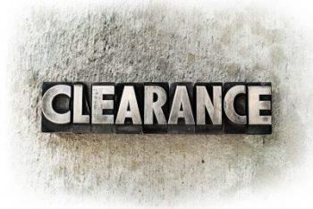 Clearance Savings