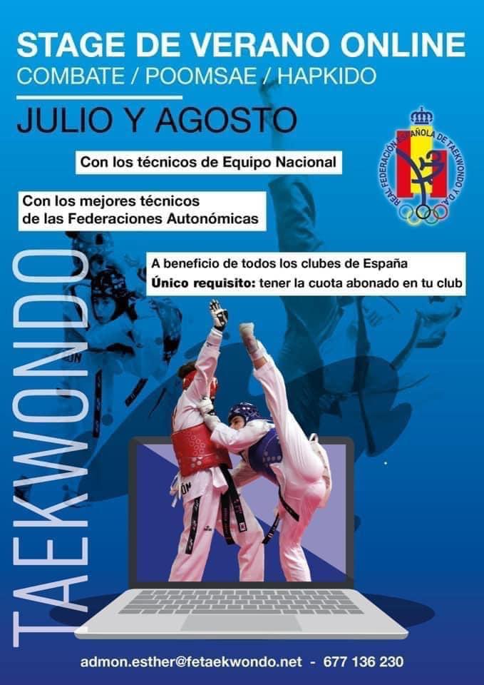 Stage Verano Online Combate y Poomsae 2020 de la Real Federación Española de Taekwondo