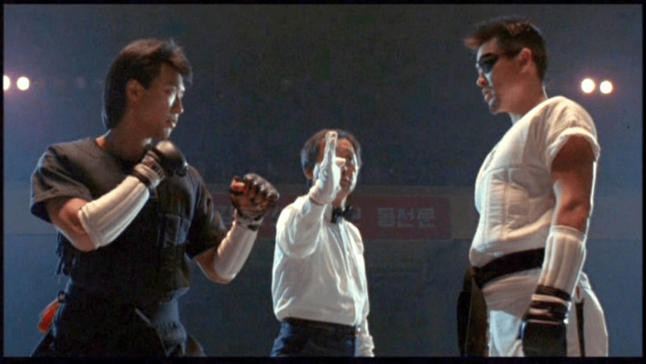 Phillip Rhee (l) and Simon Rhee square off in 1989's Best of the Best